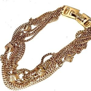 VTG Monet Multi Chain Bracelet in Gold Tone